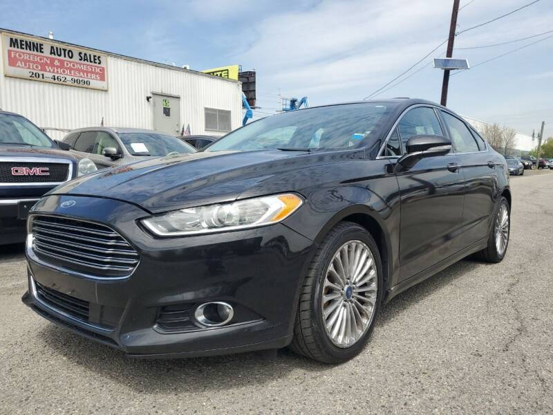 2013 Ford Fusion for sale at MENNE AUTO SALES LLC in Hasbrouck Heights NJ