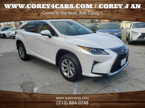 2018 Lexus RX 350 for sale at WWW.COREY4CARS.COM / COREY J AN in Los Angeles CA