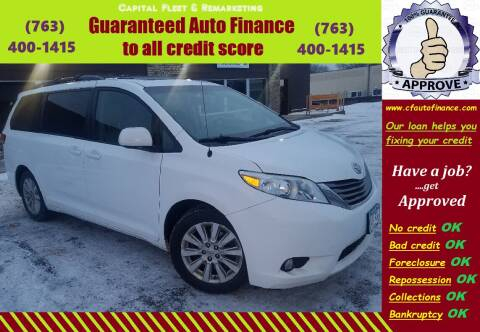 2013 Toyota Sienna for sale at Capital Fleet  & Remarketing  Auto Finance in Columbia Heights MN