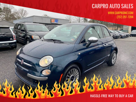 2013 FIAT 500 for sale at Carpro Auto Sales in Chesapeake VA