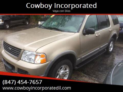 2002 Ford Explorer for sale at Cowboy Incorporated in Waukegan IL