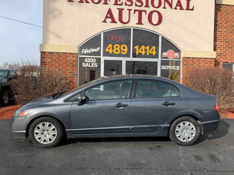 2011 Honda Civic for sale at Professional Auto Sales & Service in Fort Wayne IN
