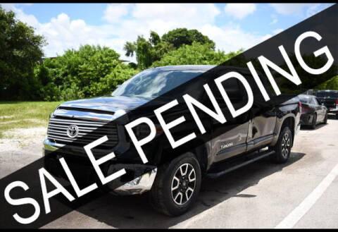 2018 Toyota Tundra for sale at ELITE MOTOR CARS OF MIAMI in Miami FL