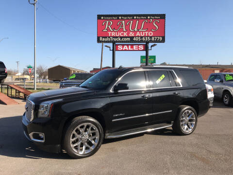 2016 GMC Yukon for sale at RAUL'S TRUCK & AUTO SALES, INC in Oklahoma City OK