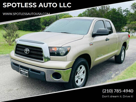 2008 Toyota Tundra for sale at SPOTLESS AUTO LLC in San Antonio TX