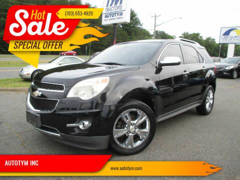 2011 Chevrolet Equinox for sale at AUTOTYM INC in Fredericksburg VA
