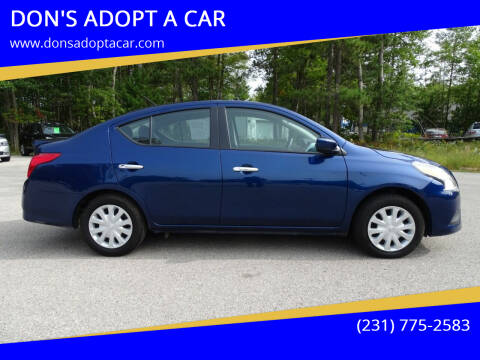 2019 Nissan Versa for sale at DON'S ADOPT A CAR in Cadillac MI