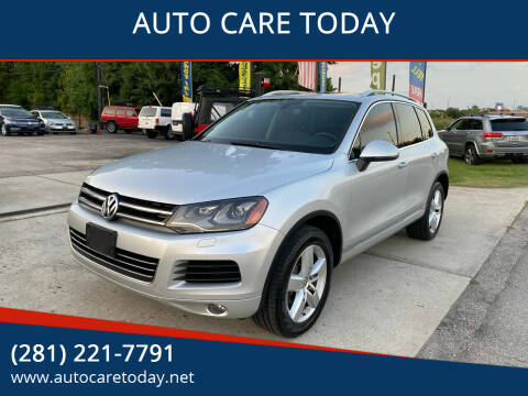 2013 Volkswagen Touareg for sale at AUTO CARE TODAY in Spring TX