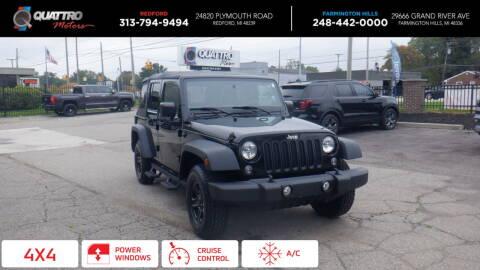 2015 Jeep Wrangler Unlimited for sale at Quattro Motors 2 - 1 in Redford MI