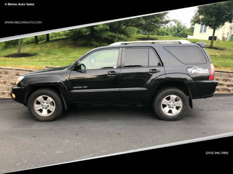 2003 Toyota 4Runner for sale at 4 Below Auto Sales in Willow Grove PA