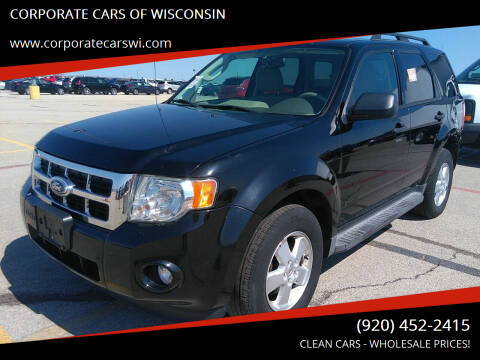2012 Ford Escape for sale at CORPORATE CARS OF WISCONSIN in Sheboygan WI