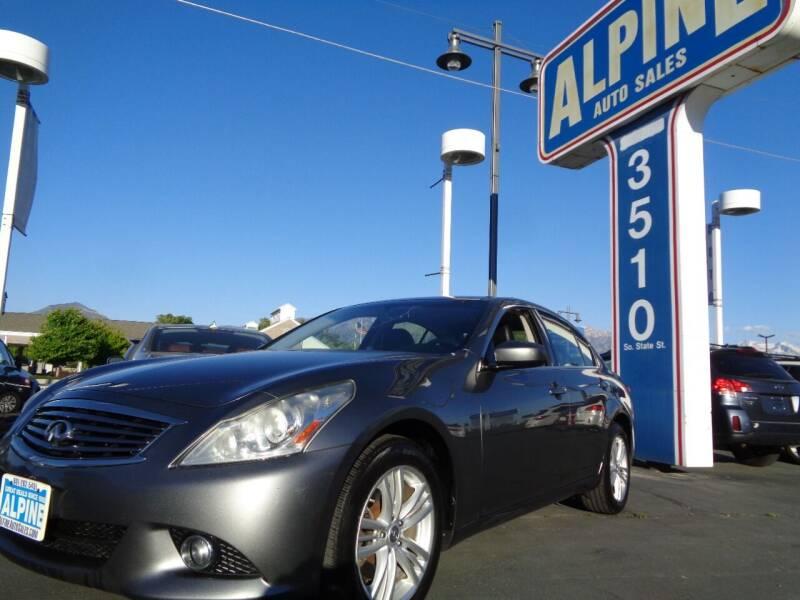 2012 Infiniti G25 Sedan for sale at Alpine Auto Sales in Salt Lake City UT