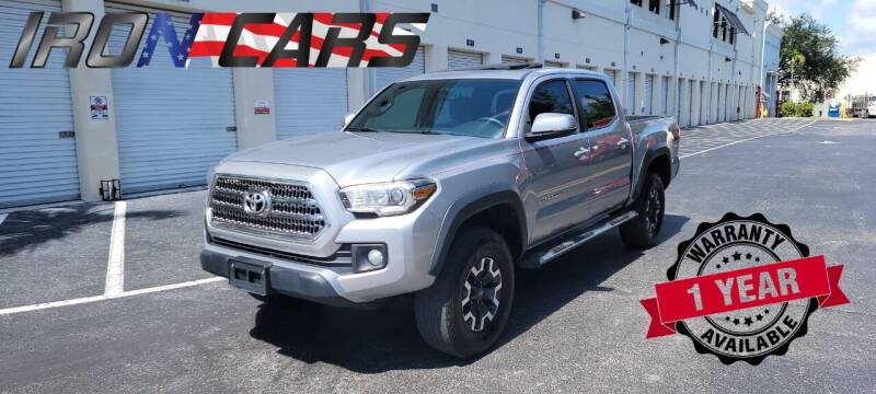 2017 Toyota Tacoma for sale at IRON CARS in Hollywood FL