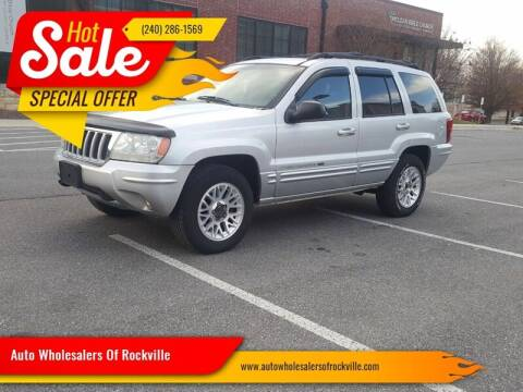 2004 Jeep Grand Cherokee for sale at Auto Wholesalers Of Rockville in Rockville MD