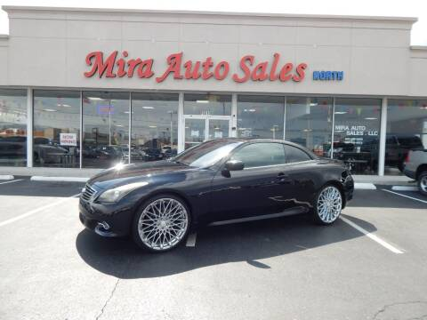 2011 Infiniti G37 Convertible for sale at Mira Auto Sales in Dayton OH
