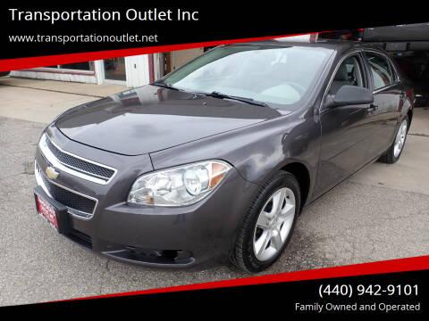 2012 Chevrolet Malibu for sale at Transportation Outlet Inc in Eastlake OH