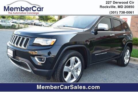 2014 Jeep Grand Cherokee for sale at MemberCar in Rockville MD