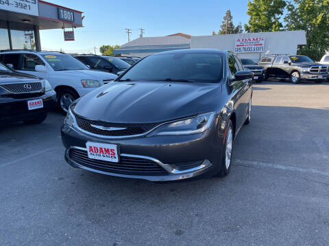 2017 Chrysler 200 for sale at Adams Auto Sales in Sacramento CA