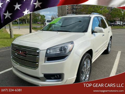 2015 GMC Acadia for sale at Top Gear Cars LLC in Lynn MA