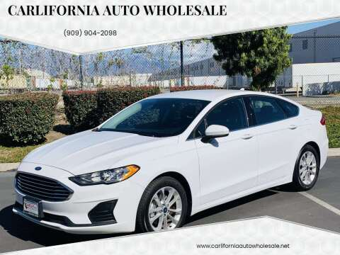 2019 Ford Fusion for sale at CARLIFORNIA AUTO WHOLESALE in San Bernardino CA