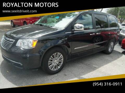 2016 Chrysler Town and Country for sale at ROYALTON MOTORS in Plantation FL