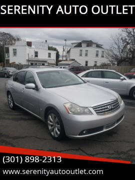 2006 Infiniti M35 for sale at SERENITY AUTO OUTLET in Frederick MD