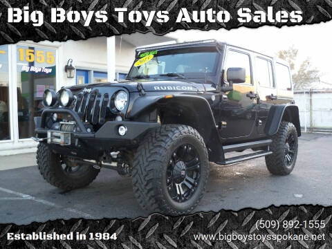 2015 Jeep Wrangler Unlimited for sale at Big Boys Toys Auto Sales in Spokane Valley WA