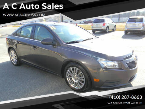 2011 Chevrolet Cruze for sale at A C Auto Sales in Elkton MD