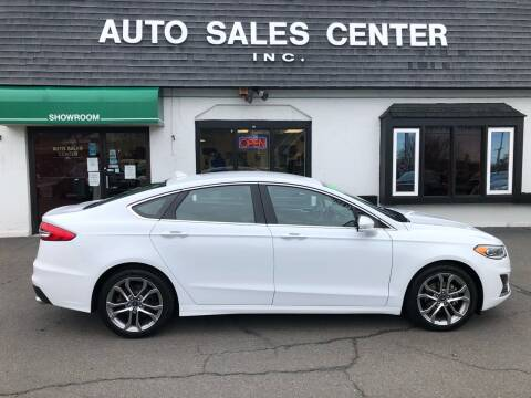 2019 Ford Fusion for sale at Auto Sales Center Inc in Holyoke MA