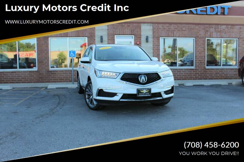 2017 Acura MDX for sale at Luxury Motors Credit Inc in Bridgeview IL