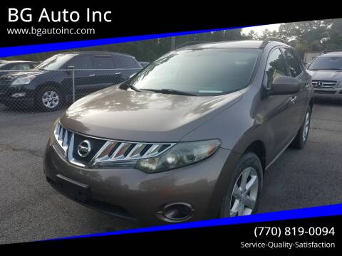 2009 Nissan Murano for sale at BG Auto Inc in Lithia Springs GA