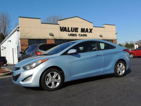 2013 Hyundai Elantra Coupe for sale at ValueMax Used Cars in Greenville NC
