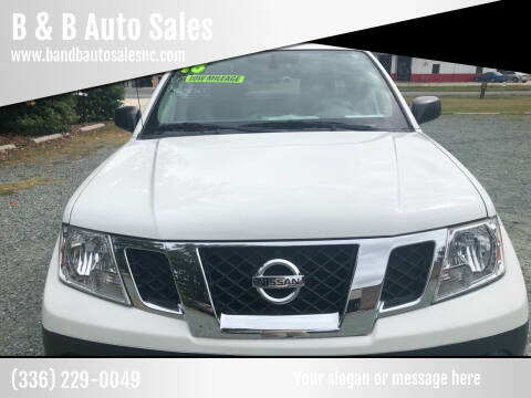 2018 Nissan Frontier for sale at B & B Auto Sales in Burlington NC