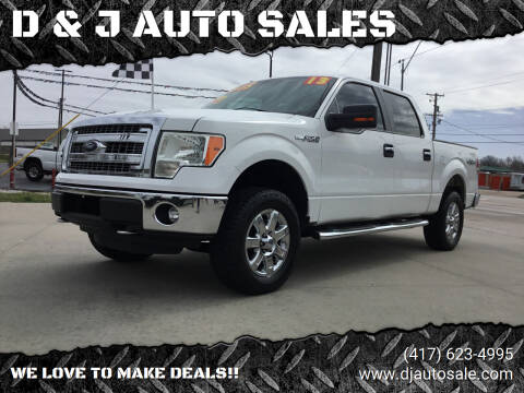 2013 Ford F-150 for sale at D & J AUTO SALES in Joplin MO