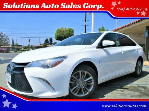 2017 Toyota Camry for sale at Solutions Auto Sales Corp. in Orange CA