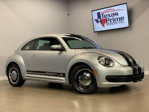 2012 Volkswagen Beetle for sale at Texas Prime Motors in Houston TX