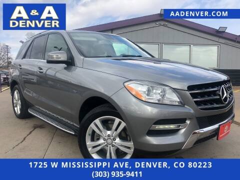 2012 Mercedes-Benz M-Class for sale at A & A AUTO LLC in Denver CO