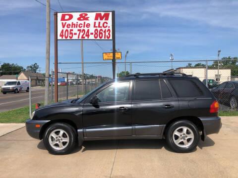 2001 Hyundai Santa Fe for sale at D & M Vehicle LLC in Oklahoma City OK