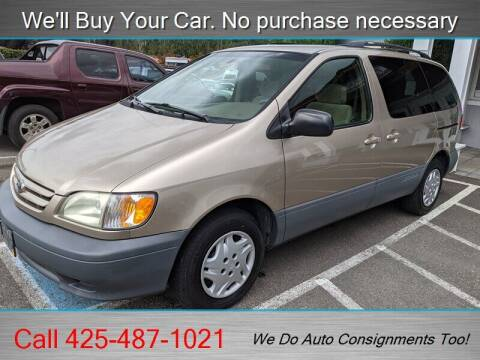 2002 Toyota Sienna for sale at Platinum Autos in Woodinville WA