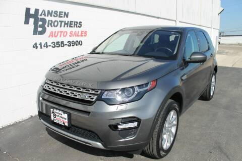2017 Land Rover Discovery Sport for sale at HANSEN BROTHERS AUTO SALES in Milwaukee WI
