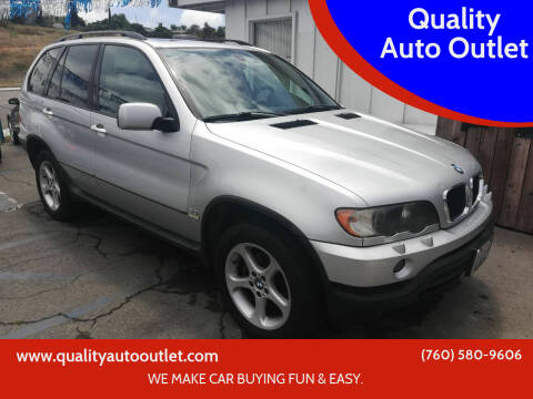 2003 BMW X5 for sale at Quality Auto Outlet in Vista CA