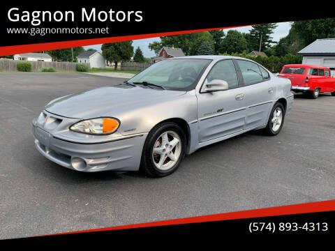 2000 Pontiac Grand Am for sale at Gagnon  Motors - Gagnon Motors in Akron IN