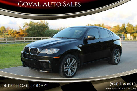 2011 BMW X6 M for sale at Goval Auto Sales in Pompano Beach FL