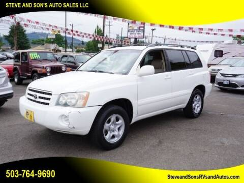 2001 Toyota Highlander for sale at Steve & Sons Auto Sales in Happy Valley OR
