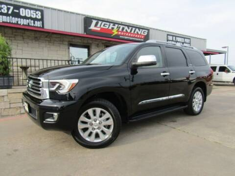 2018 Toyota Sequoia for sale at Lightning Motorsports in Grand Prairie TX