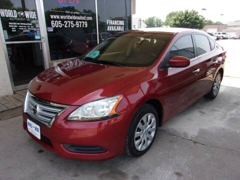 2015 Nissan Sentra for sale at World Wide Automotive in Sioux Falls SD