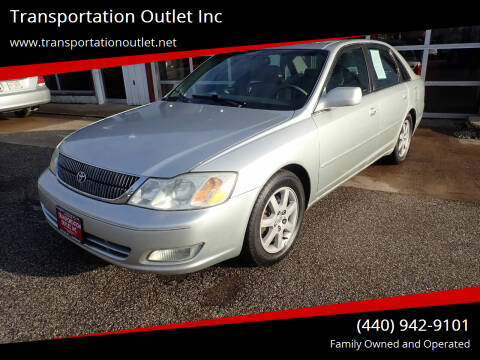 2001 Toyota Avalon for sale at Transportation Outlet Inc in Eastlake OH