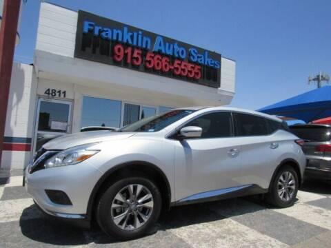 2017 Nissan Murano for sale at Franklin Auto Sales in El Paso TX