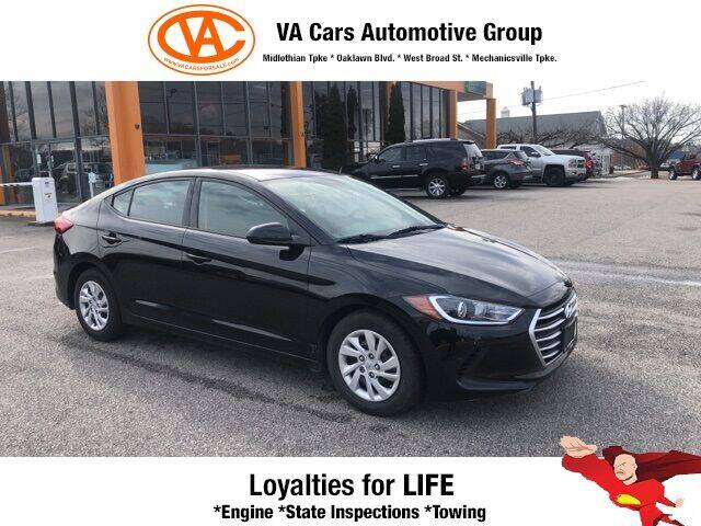 2018 Hyundai Elantra for sale at VA Cars Inc in Richmond VA