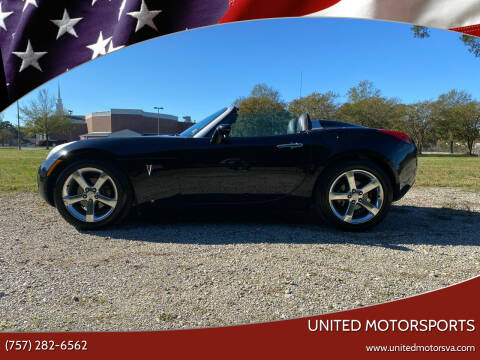 2007 Pontiac Solstice for sale at United Motorsports in Virginia Beach VA